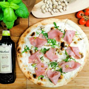 Pizza con Mortadella
