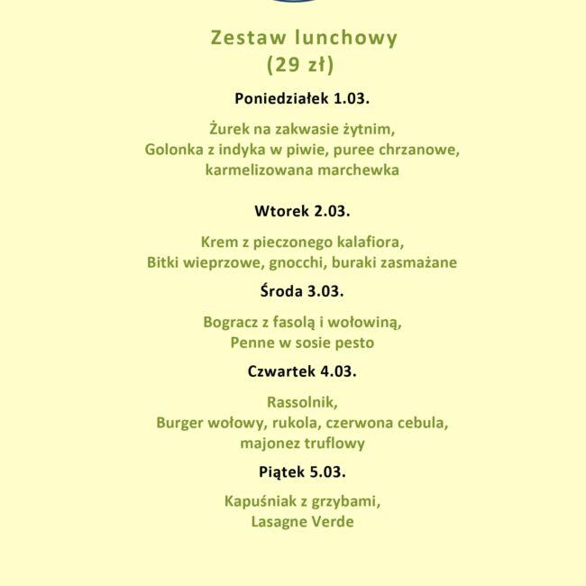 Lunch menu - Jakość robi różnicę