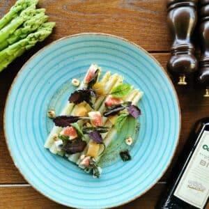 Asparagi bianchi con gorgonzola